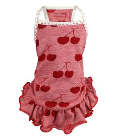 Look at this Hip Doggie Red Cherries Dog Dress on #zulily today!