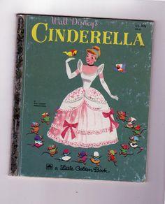 Little Golden Book. Walt Disney's Cinderella. Vintage children's book 1950 hardcover collectible. by PickleladyPapers on Etsy
