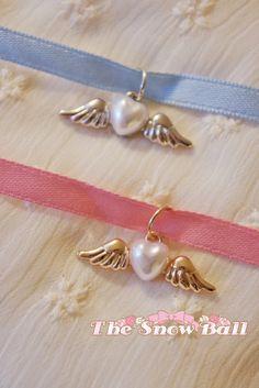Kawaii Lolita harajuku Cupid heart angel wing charm pendant necklace choker (2…