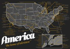 The Map of the american TV shows