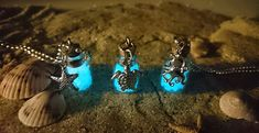 Glow in the Dark Tiny Bottle Charm Necklaces in by reverdefaire