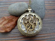 HOt Salelord of the rings jewelry dragon Pocket Watch by 001shop, $4.20