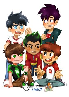 Danny Phantom, Ben 10, Randy Cunningham, Dude where's my ghost, and American Dragon Jake Long