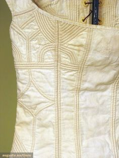 cotton corded corset detail c. 1800-1825 by emmyclare