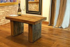 Furniture from international interior design brands. Explore their product catalogues and trade prices. Wood Furniture, Modern Furniture, Tasting Table, Wine Tasting, Furniture Factory, Industrial, Rustic Table, Old Wood, Bar Chairs