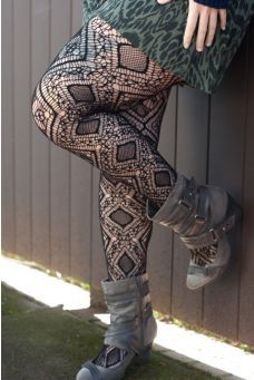 a67a5cca8 Moroccan Diamond Net Pantyhose Tights And Boots