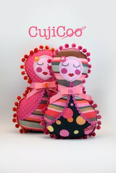 Candy stripe Russian Doll - Girl Pillow Toy
