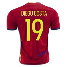 2016 uefa euro spain diego costa 19 home soccer jerseyyou can find this jersey