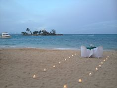 Private Dinner for two at #couplesresorts #beach #towerisle