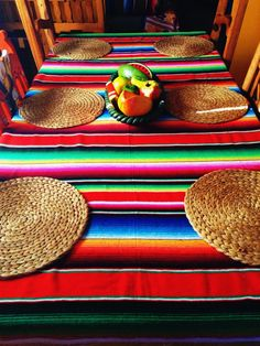 The Beauty of the Mexican Serape #mexicandecor