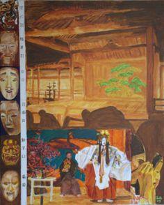 Noh Masks (Masks Polyptych, scene 5), bachmors artist