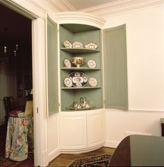 Dining Room Hutch Curved Corner Built In