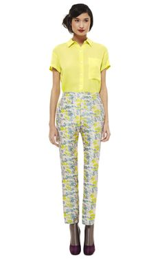 Opening Ceremony Floral Jacquard Fitted Pant via Moda Operandi