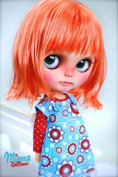 Custom girl 'Doreen' available for sale by the wonderfully talented Gritt of Miema Dollhouse ♡