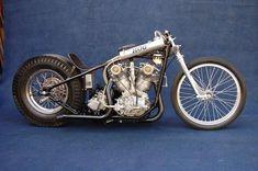 Vintage style Harley Drag Bike