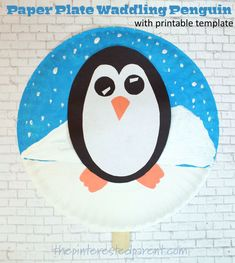 This adorable paper plate waddling penguin craft will surely delight your little ones, while they craft and then play. Craft Stick Crafts, Preschool Crafts, Crafts For Kids, Arts And Crafts, What Is Cute, Penguin Craft, Orange Paper, Poinsettia Flower, Paint Drying