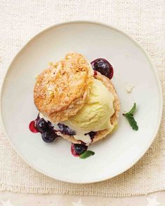 Corn Ice Cream Shortcakes with Blueberry Compote   33 Delicious Ways To Use Up Your Summer Vegetables