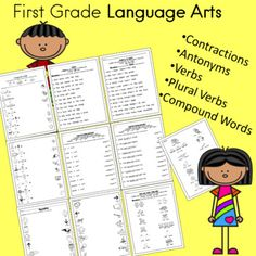 First Grade Language Arts Worksheets Independent Work Packet First Grade Lessons, First Grade Activities, Social Studies Activities, First Grade Teachers, Learning Resources, Teacher Resources, Language Arts Worksheets, Kindergarten Language Arts, Art Worksheets