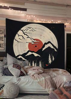 Shop Mountain Wall Tapestry Shop Mountain Wall Tapestry PYHQ pyhqshop Tapestry Bedroom Ideas Buy Aesthetic Wall Tapestries Best Decoration For CollegeBedroomDormLiving RoomDepartmentLoftGarden Home Weaving Dorm nbsp hellip Cool Tapestries, Tapestry Bedroom, Wall Tapestry, Dorm Room Art, Room Decor Bedroom, Bedroom Ideas, Retro Room, Aesthetic Room Decor, Boho Room
