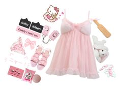 """🎀 S w e e t b a b y 🎀"" by super-kawaii-zoe ❤ liked on Polyvore featuring Cotton Candy"
