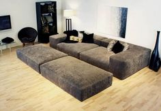 15 Awesome Modern Sofa Design Ideas ~ Home Decor Journal Pit Couch, Sofa Couch, Pit Sectional, Man Cave Couch, Cuddle Couch, Large Sectional Sofa, Deep Seated Sofa, Deep Sofa, Living Room Furniture