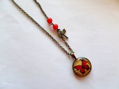 Butterfly necklace  necklace with butterfly door Linskeslovelythings, €10.00