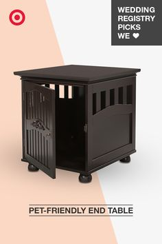 An end table that doubles as a pet kennel? Yes, please! This high-functioning piece of furniture is a must on any dog owner's wedding registry. It stylishly maximizes space, making it a pet landing zone fit for even your living room. Plus, your pooch will appreciate being able to keep an eye on all the action.