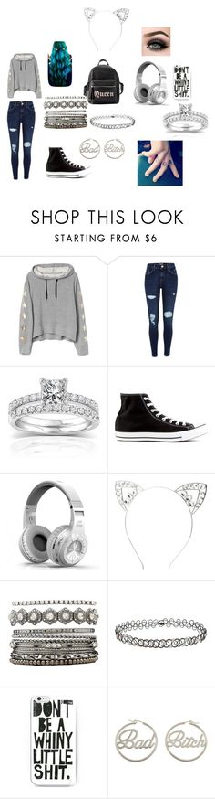 """""""dory"""" by sky006love ❤ liked on Polyvore featuring ASAP, River Island, Keratin Complex, Annello, Converse, Charlotte Russe, Miss Selfridge, me you and BFF"""