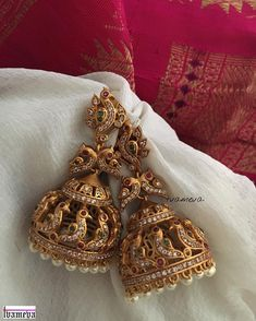 Antique bridal jhumka !