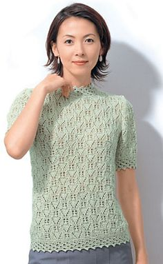 Ravelry: 23-4 Lacy Sweater pattern by Pierrot (Gosyo Co., Ltd)