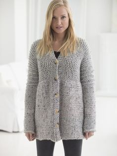 You won't believe how EASY it is to knit your first cardigan! Get the free…