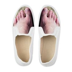 """Hairy Feet Men's Shoes - They're not exactly """"sexy"""", but I love these! I'd have to order a couple sizes smaller for the men's sizes to work on girl feet, though :) #funny #shoes"""