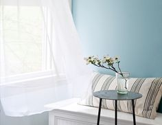 Window bench with patterned pillow