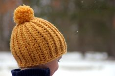 Crochet  Hat Patterns - Awesome Knit Look Hat - five sizes included from baby to adult - Instant Download - pattern number 118
