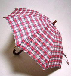 Red plaid umbrella