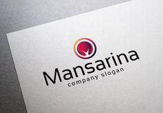 Mansarina Logo Templates **FILE:**- AI, EPS- Vector- CMYK- Text can change- Color can change**FONT:**- Sansation - ht by EmilGuseinov