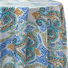 60 x 120 Rectangle Celebrate Spring Easter Flowers Butterflies Yellow Fabric Tablecloth