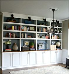 Built-ins.  We'll be making something like this for our office... from scratch…