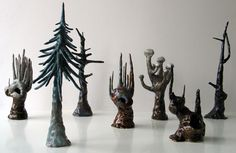 Abstract trees by danish ceramicist Marianne Krumbach
