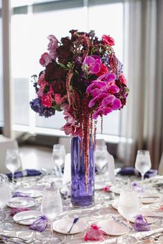 Add even more color to your centerpieces by dying the water inside!  #oneatlanticevents #atlanticcity #newjersey #weddings