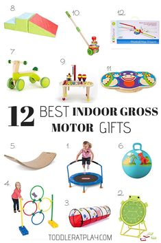 Today I'm sharing an awesome gift guide with you- 12 Best Indoor Gross Motor Gifts you can gift to your kids this year (which they will ACTUALLY like!) Gift Guide, I'm sharing some of the best selling toys this year to improve gross motor skills. Toddler Boy Gifts, Gifts For Boys, Toys For Boys, Cool Toddler Toys, Best Gifts For Toddlers, Unique Toys For Toddlers, Toddler Climbing Toys, Outdoor Toys For Toddlers, Learning Toys For Toddlers