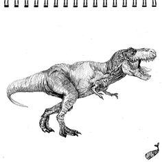 T-Rex #art #drawing #trex #dinosaur #animal #animals