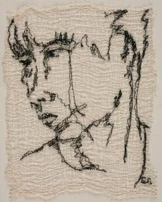 Sui Ling, textile art embroidery by Susanne Gregg
