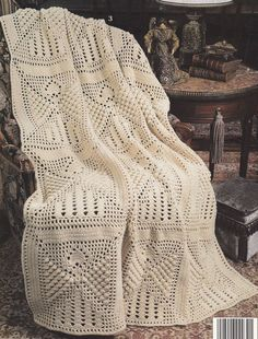 👼 Bela Colcha de Crochê Anjo -  /  👼 Beautiful Bedspread Crocheted Angel -