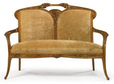 "majorelle, louis ""ombelles"" settee 