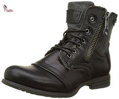 Bunker Zip-FR1, Bottes Motardes Femme, Noir (Black), 38 EU - Chaussures bunker (*Partner-Link) Bike Boots, Combat Boots, Mens Biker Boots, Men Boots, Edgy Kid, Tanker Boots, Divas, Style Rock, Fashion Shoes