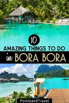 10 Amazing Things to do in Bora Bora, French Polynesia. Whether you enjoy hiking, snorkeling, paddle boarding or just laying on gorgeous beaches. you will fall in love with Bora Bora. How to plan an adventure trip to Bora Bora Trip To Bora Bora, Bora Bora Honeymoon, Romantic Vacations, Dream Vacations, Romantic Beach, Beach Vacations, Romantic Travel, Bora Bora Activities, Bora Bora French Polynesia