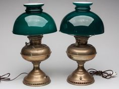 Lot: RAYO BRASS KEROSENE LAMPS, LOT OF TWO, Lot Number: 0457, Starting Bid: $30, Auctioneer: Jeffrey S. Evans & Associates, Auction: Catalogued Variety Auction, Date: February 16th, 2013 EST