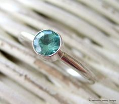 Apatite Sterling Stack Ring