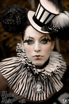 It would be neat to incorporate vintage carnival with masquerade/harlequin,